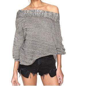 Linen blend free people sweater